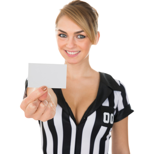 Female Referee Showing Cardの素材 [FYI00636788]