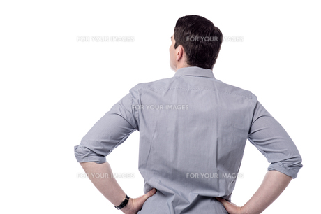 Middle aged man from back.の写真素材 [FYI00636980]