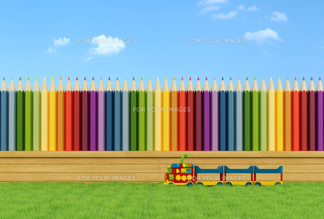 Colorful garden for childrenの写真素材 [FYI00636989]