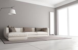 Minimalist living roomの写真素材 [FYI00636994]