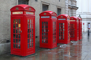 Telephone boothsの写真素材 [FYI00637004]