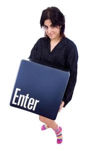 enter keyの写真素材 [FYI00637394]
