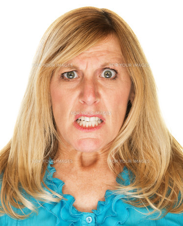 Mad Woman Scowlingの写真素材 [FYI00637673]