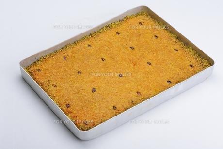 Turkish pastry kadaifの写真素材 [FYI00637783]
