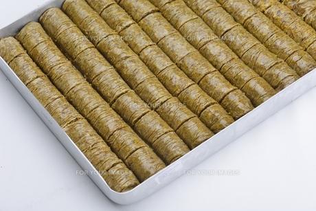 Turkish pastry kadaifの写真素材 [FYI00637784]
