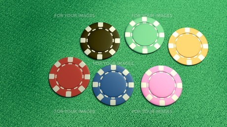 single of 6 casino chips topの素材 [FYI00638062]