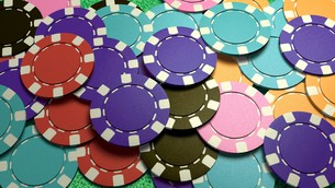 mass casino chips colorfulの写真素材 [FYI00638063]