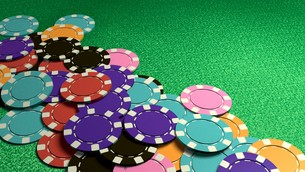 many of casino chips colorfulの写真素材 [FYI00638064]