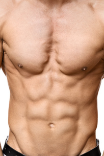 Abdominal muscle of young manの写真素材 [FYI00638274]