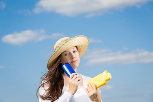 protection against skin cancerの写真素材 [FYI00638326]
