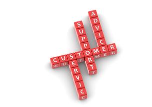 Buzzwords customer serviceの写真素材 [FYI00638365]