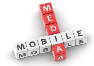 Buzzwords mobile mediaの写真素材 [FYI00638383]