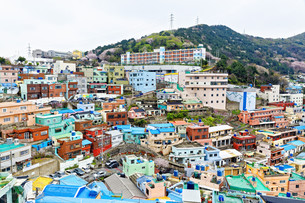 Gamcheon Culture Village in South Korea.の写真素材 [FYI00638511]