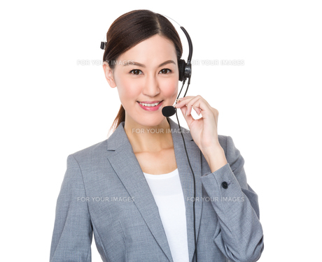 Customer services consultantの写真素材 [FYI00638609]