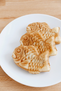 Taiyaki of japanese traditional baked sweetsの写真素材 [FYI00638677]