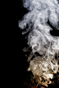 Smoke with yellow and white colorの写真素材 [FYI00638709]