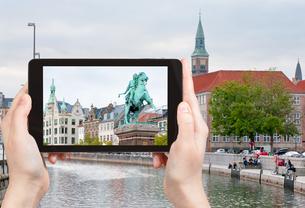 photo of Statue of Absalon in Copenhagen, Denmarkの写真素材 [FYI00638785]