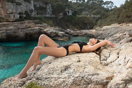 model beach cliffの写真素材 [FYI00638849]