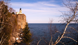 Split Rock Lighthouse Lake Superior Minnesota United Statesの写真素材 [FYI00639221]