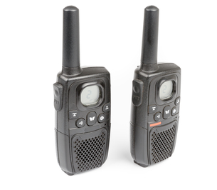 Black Personal Radio isolated on whiteの写真素材 [FYI00639222]