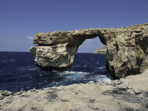 the island of gozo in the mediterraneanの写真素材 [FYI00639224]