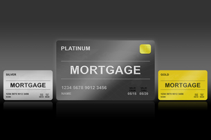 financial mortgage platinum cardの写真素材 [FYI00640263]