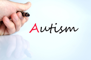 Pen in the hand autism conceptの写真素材 [FYI00640289]