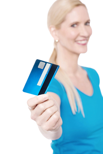 Shop with new credit card !の写真素材 [FYI00640658]