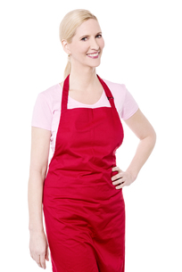 Casual pose of female chefの写真素材 [FYI00640663]