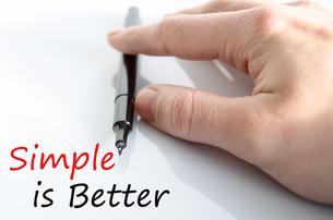 Simple is Better Conceptの写真素材 [FYI00640750]