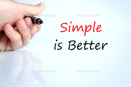 Simple is Better Conceptの写真素材 [FYI00640752]