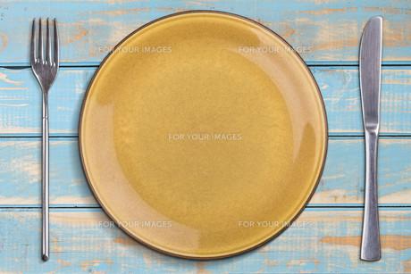 Empty plateの写真素材 [FYI00640789]