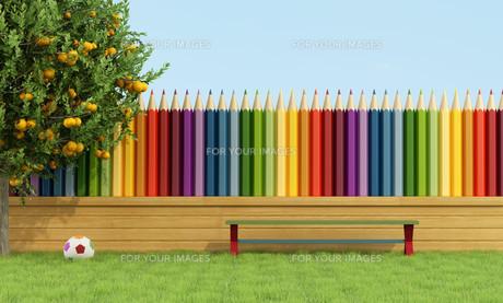 Colorful garden for childrenの写真素材 [FYI00640803]