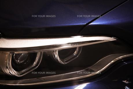Car LED headlightの写真素材 [FYI00640927]