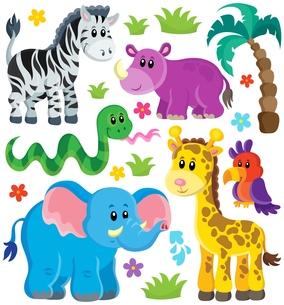 Set of African animals 3の写真素材 [FYI00641077]