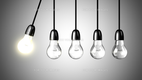 A light bulb will boost extinguished bulbs. Realistic 3d renderの写真素材 [FYI00641188]