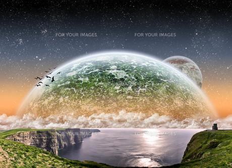 Beach planet landscapeの写真素材 [FYI00641299]