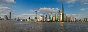 China Shanghai Pudong district Skylineの写真素材 [FYI00641422]