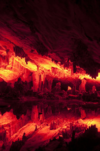 Reed Flute Cave, Guilin, Chinaの写真素材 [FYI00641430]
