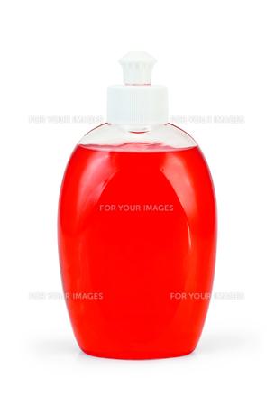 Soap red liquidの写真素材 [FYI00641958]