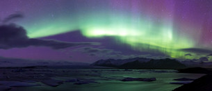 Northern Light Aurora borealis Jokulsarlon Glacierの写真素材 [FYI00641999]
