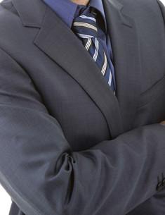 blue tieの写真素材 [FYI00642043]