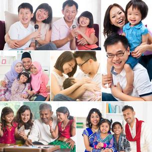 Collage photo of familyの写真素材 [FYI00642125]