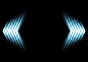 Bright glow blue arrowsの写真素材 [FYI00642133]