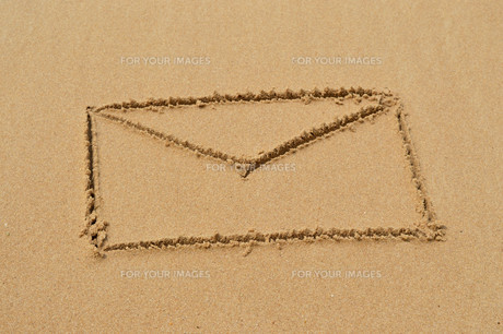 Brief im Sandの素材 [FYI00642527]