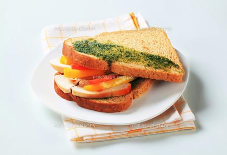 Turkey sandwichの写真素材 [FYI00642599]