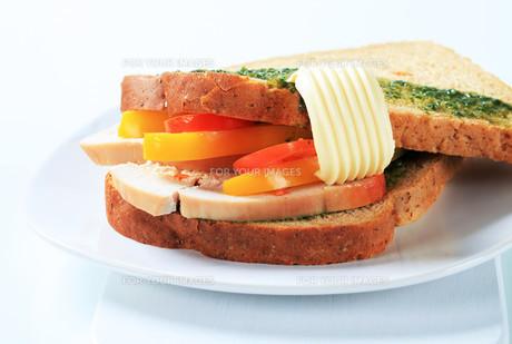 Turkey sandwichの写真素材 [FYI00642604]