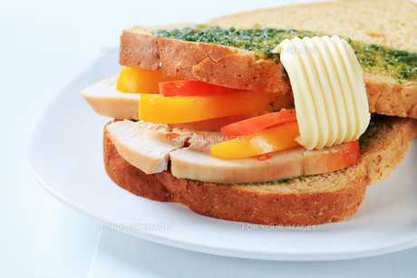 Turkey sandwichの写真素材 [FYI00642605]