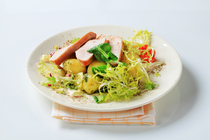 Roast turkey breast and potatoesの写真素材 [FYI00642616]