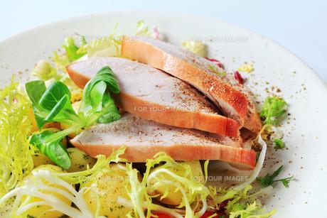 Roast turkey breast and potatoesの写真素材 [FYI00642617]